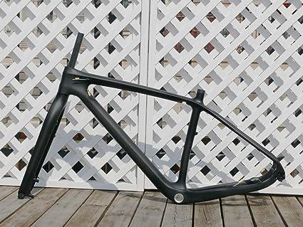"""29er 17.5/"""" Carbon MTB Frame 12mm Thru Axle BSA UD Matt Mountain Bike Clamp LIGHT"""