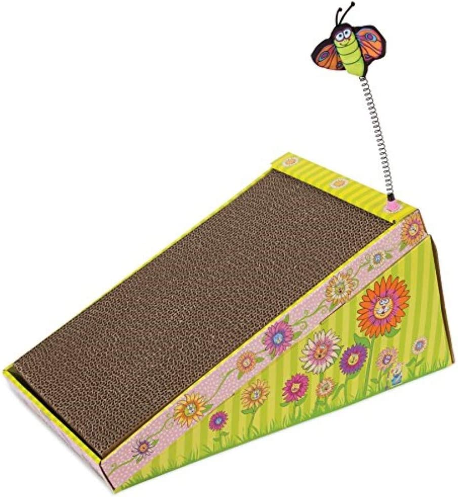 FATCAT Big Mama's Scratch 'n Play Ramp Reversible Cardboard Toy and Catnip Included : Scratching Pads : Pet Supplies