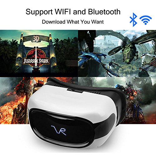A-PLUS All in one Virtual Reality WiFi Bluetooth 3D VR Glasses Headset, Quad Core 1G/8G 1080p HD Android 5.1 Video Movie Streaming Game Support TF Card