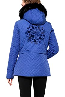 Desigual Womens Fran Quilted Coat