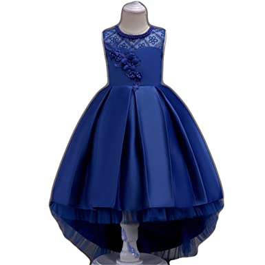 71ef7e4c4145 Amazon.com  FKKFYY 2-14 Years Girl Wedding Party Graduation Long ...