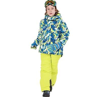 Niños Chaquetas De Esquí,Snowboard Chaqueta De Camuflaje con ...