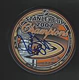 Signed Randy Carlyle Puck - Anaheim Ducks 2007 Stanley Cup Champions - Autographed NHL Pucks