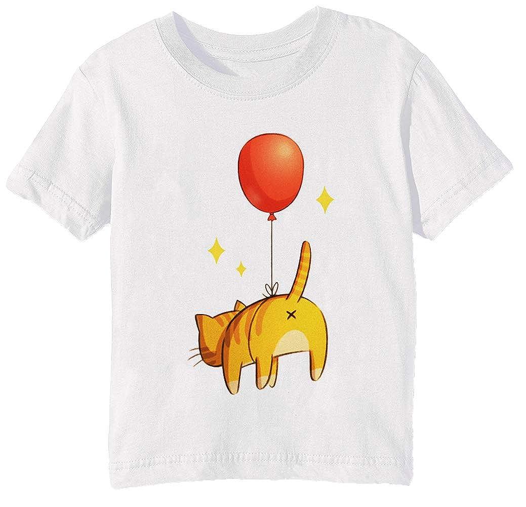 Globo Extremo - Gato Niños Unisexo Niño Niña Camiseta Cuello ...