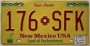 New Mexico Usa Amerikanisches Nummernschild Kfz Kennzeichen Us License Plate Blech Schild Auto