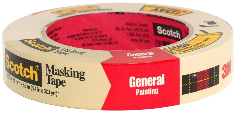3M 2050-24A 1'' Scotch Painters' Masking Tape For Trim Work