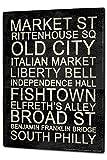 Tin Sign XXL Wanderlust City Philadelphia Attractions