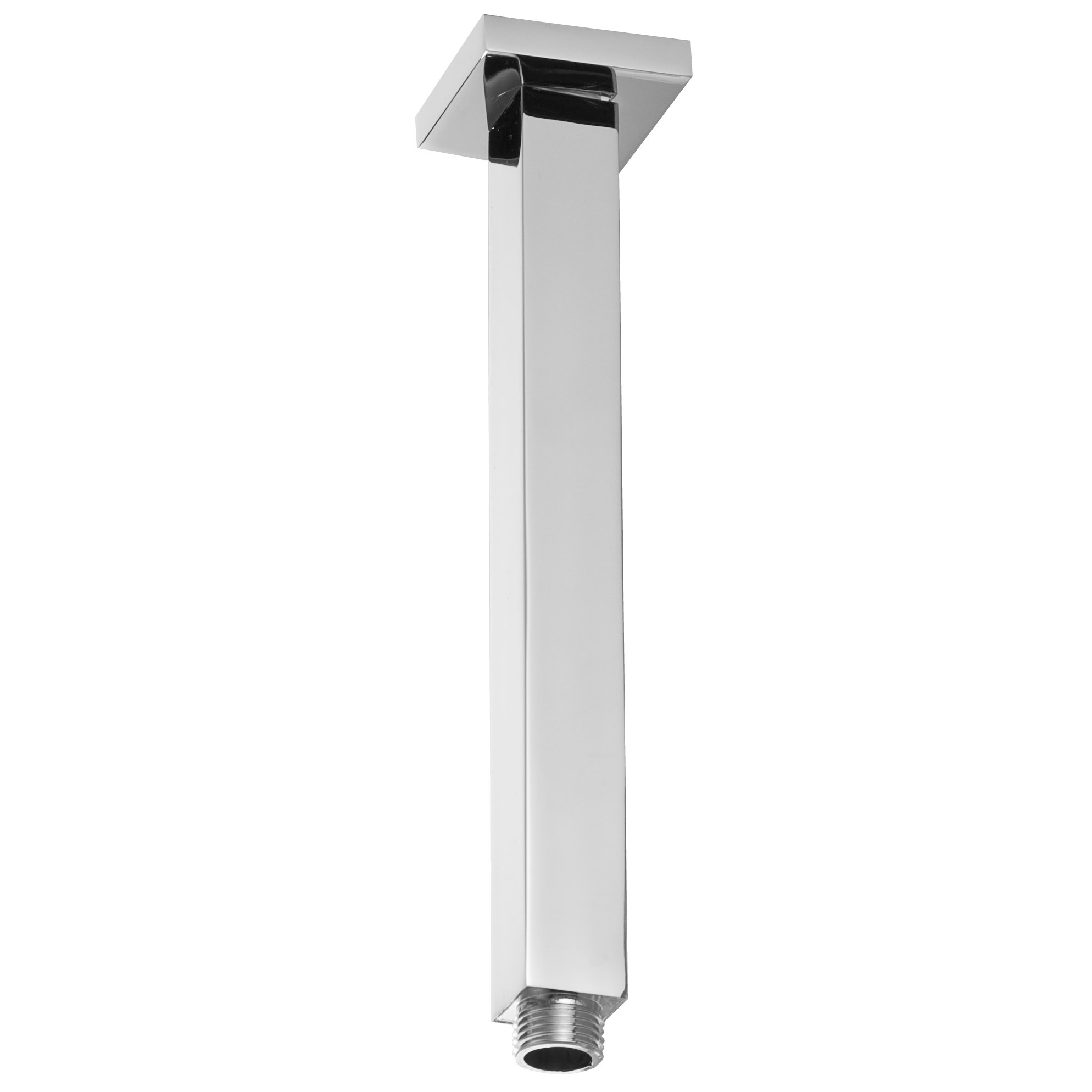 Westbrass D3609S-26 Square Ceiling Drop Shower Arm & Flange, Polished Chrome
