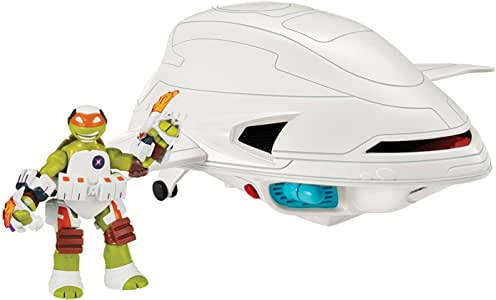 Ninja Turtles Teenage Mutant Ninja Turtles Fugitoid Ship Vehicle with Michelangelo action Figure