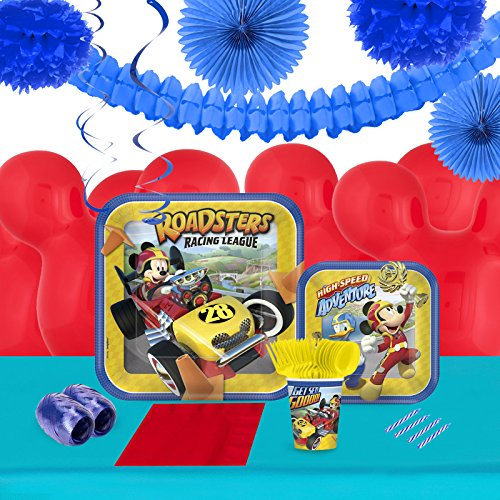 BirthdayExpress Mickey Roadster Party Supplies Tableware Decoration Kit - Roadster Kit