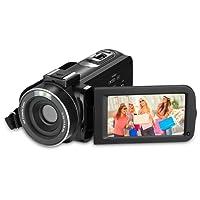 """RegaMoudal Full HD 1080P VideoCamera ,Camcorder Digitale da 24MP Zoom Digitale 16X ,3 """" Schermo LCD270 ° Grandangolare Nero"""