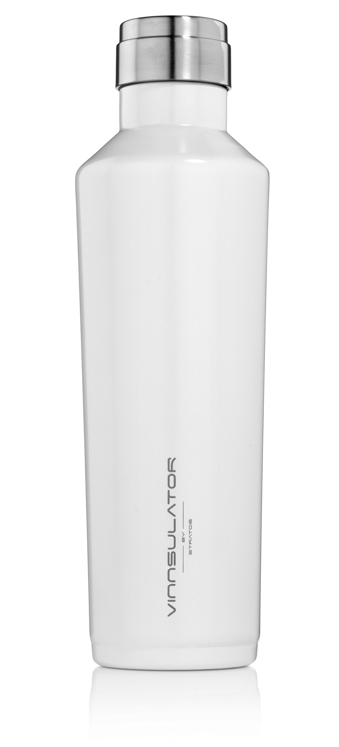 Vinnsulator Double Wall Insulated Tumbler Water Bottle & Thermos - Powder Coated & Heavy Duty Stainless Steel (White, 25 oz)