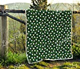 LoveofSky Golf Ball Pattern Quilt Super King Size - All Season Comforter with Cotton Quilts - Best Decorative Unique Banklet for Traveling, Picnics, Beach Trips, Gifts