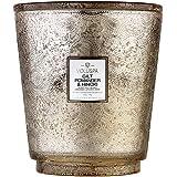 Voluspa Hearth 5 Wick Glass Candle in Gilt Pomander & Hinoki