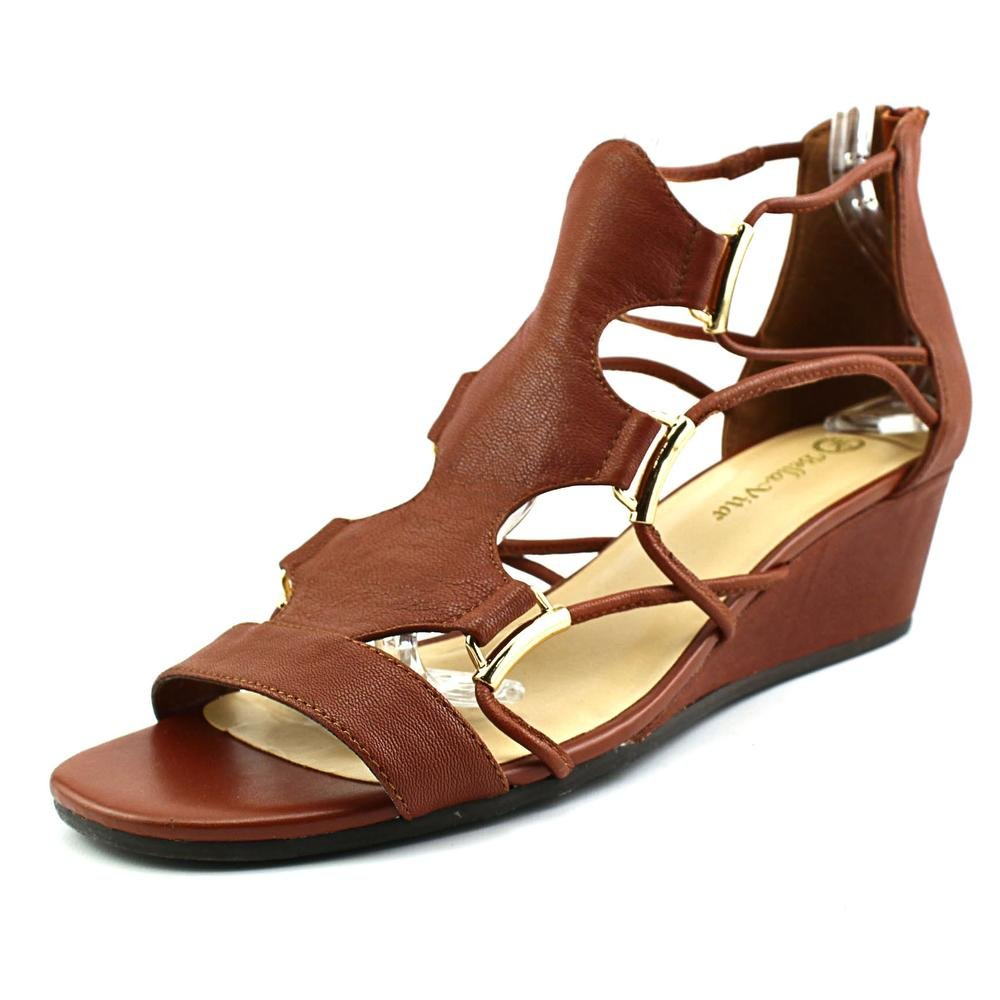Bella Vita Women's Isla Wedge Sandal B01AAEWMJC 8.5 W US|Dark Tan