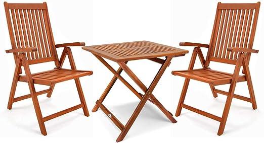Deuba Conjunto plegable de madera de acacia para balcón y exterior ...