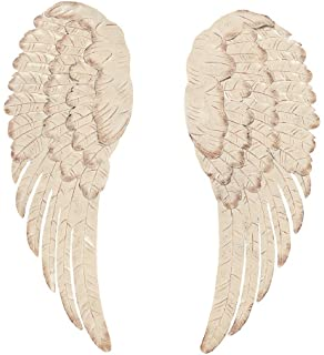 White Metal Angel Wing Wall Decor Set Of 2