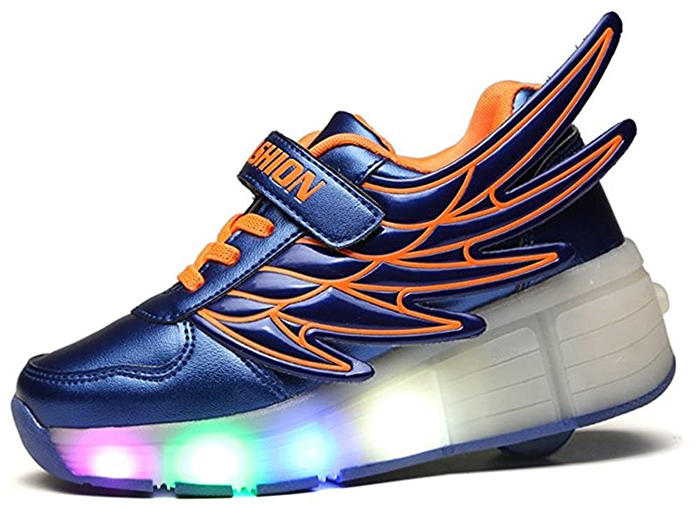 Little//Big Kid A2kmsmss5a Kids Summer LED Light Up Wheels Roller Shoes Skate Sport Sneakers