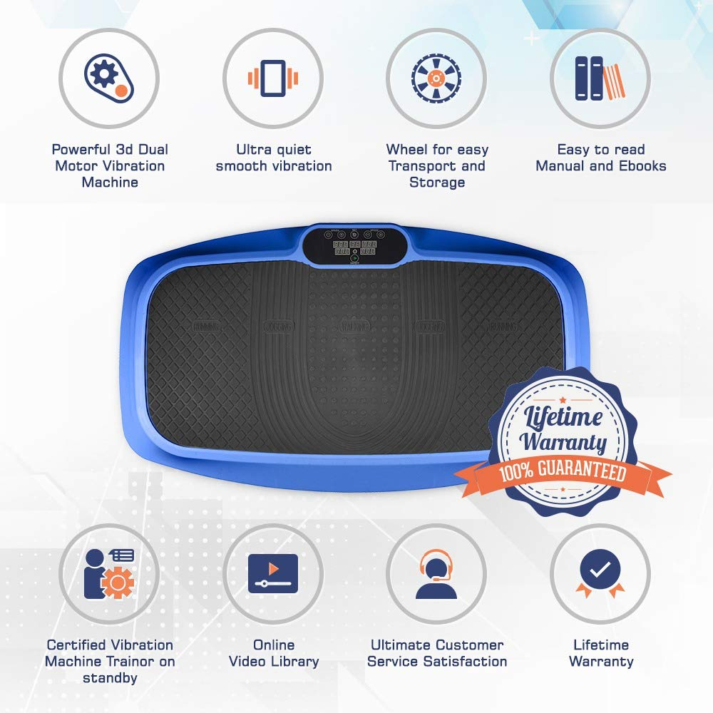 LifePro 3D Vibration Plate Exercise Machine - Dual Motor Oscillation, Pulsation + 3D Motion Vibration Platform   Full Whole Body Vibration Machine for Home Fitness, Weight Loss, Toning & Shaping. by LifePro (Image #3)