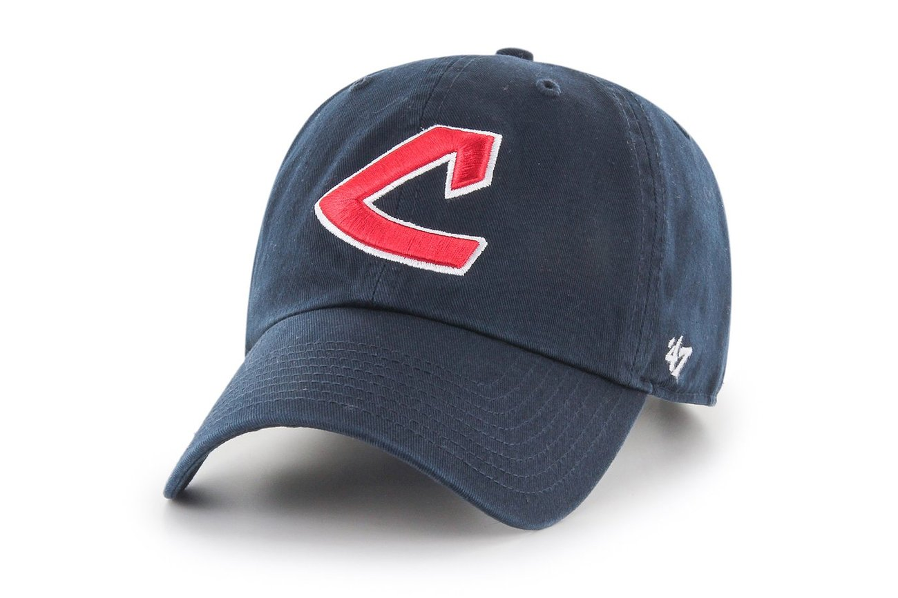 47 Brand Clean Up Cleveland Indians Cooperstown Navy Adjustable Cap