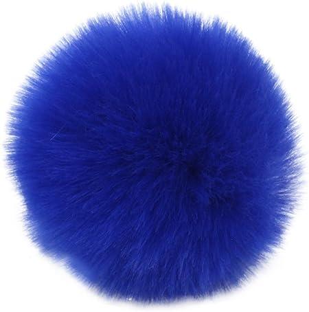 10 Royal Blue 35mm Acrylic Craft Pom PomsFluffy Acrylic Pompoms