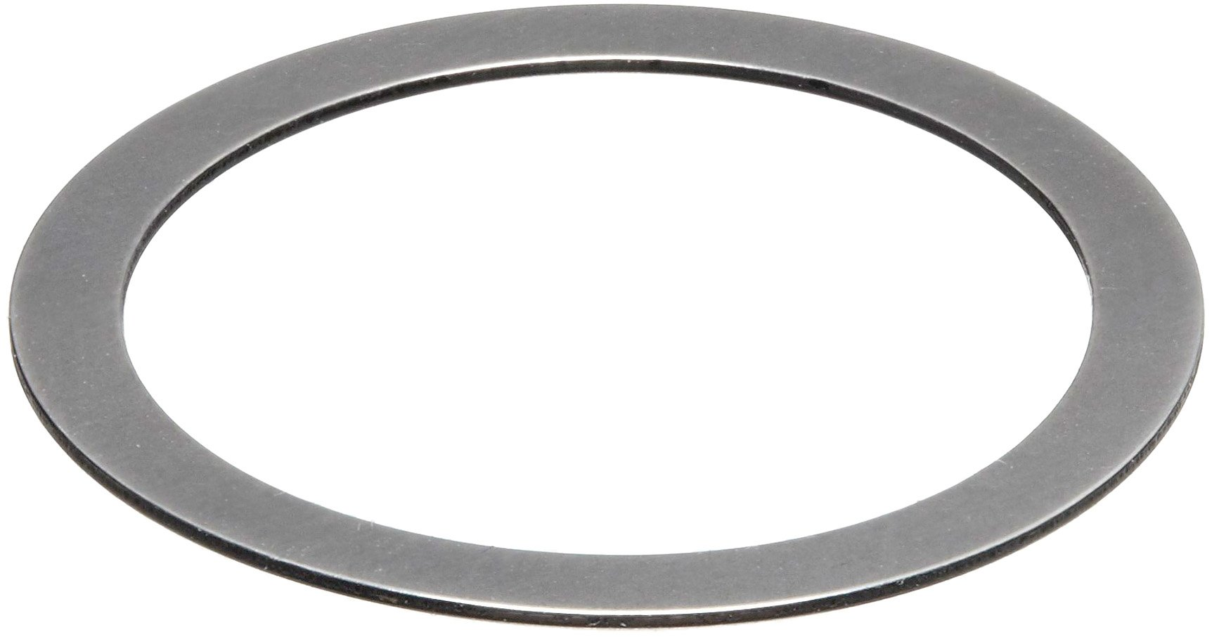 1075 Spring Steel Round Shim, Matte Finish, Spring Temper, AISI 1074/SAE 1074/AMS 5120H/QQ-S-700, 0.015'' Thickness, 0.595'' ID, 0.749'' OD (Pack of 50) by Small Parts (Image #1)