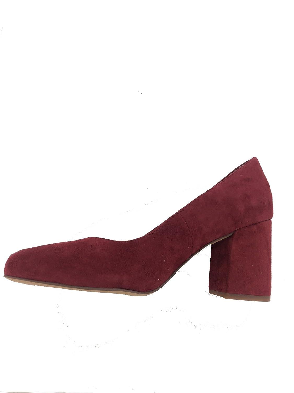 Franco Sarto Womens Taisley Leather Closed Toe Classic Pumps B0786THR1N 10 B(M) US|Syrah Kid Suede