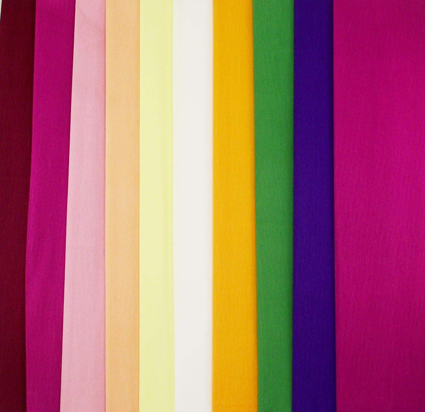 Shades of Purple 10 pcs Assorted Colors - 20 inches Wide by 6.2 ft Long Crepe Paper Folds Mexican Crepe Paper