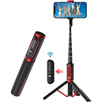Selfie Stick Bluetooth, BlitzWolf Lightweight Aluminum All in One Extendable Selfie Stick Tripod with Wireless Remote…