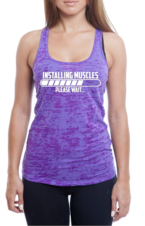 Women's Installing Muscle Burnout TankTop