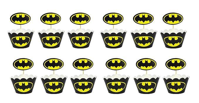 12 piezas de superman para cupcakes y cupcakes Wrapper púas ...