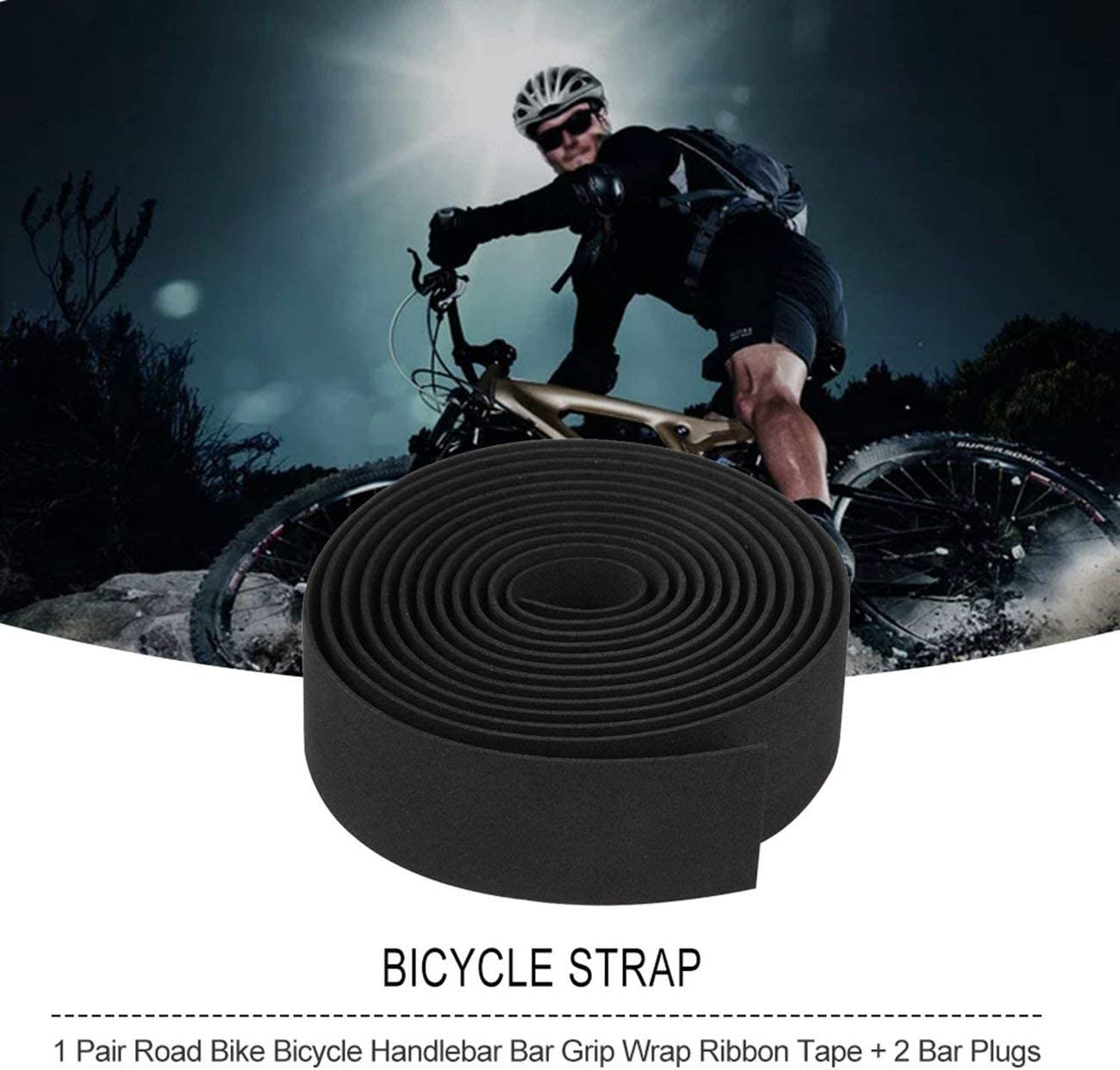 Road Bike Universal Handlebar Tape Sport Cork Sports Bicycle Belt Handle Wrap