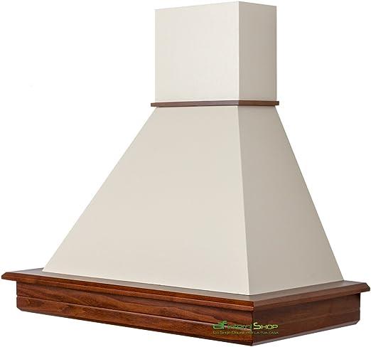 Campana de cocina rústica madera STOCK 90 nogal clásico chimenea crema mc 420: Amazon.es: Hogar