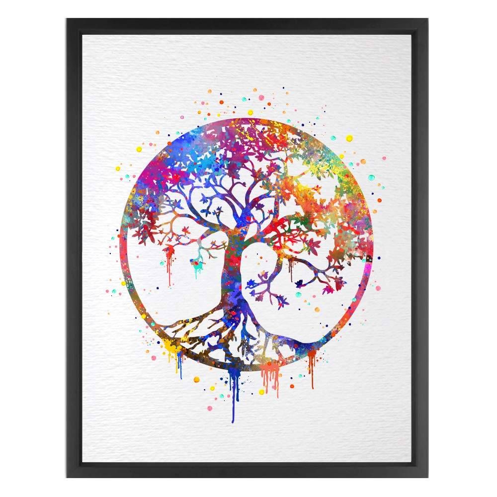 Dignovel Studios Unframed 8X10 Tree of Life Watercolor Art Print Wall Art Poster Wedding Gift Nursery Nature Love Family Giclee Housewares Buddha Home Décor N346