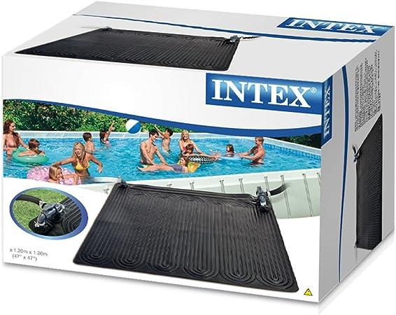 Intex 28685 - Alfombra calentador solar de agua 120 cm, Negro ...