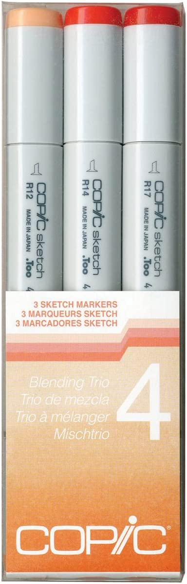 Copic Marker Sketch Blending Trio Markers, SBT 4, 3-Pack