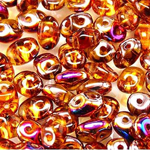 (Topaz Sliperit SuperDuo Czech Two Hole Seed Beads 2.5x5mm Approx 20 Grams)