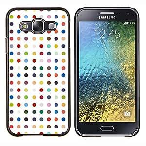 "Be-Star Único Patrón Plástico Duro Fundas Cover Cubre Hard Case Cover Para Samsung Galaxy E5 / SM-E500 ( Modelo de lunares blanco en colores pastel del color"" )"