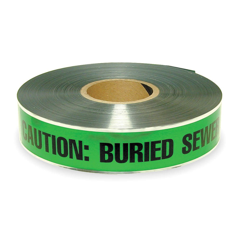 CH HANSON 16614 15,2 cm Detectable grün begraben Sewer Line Tape
