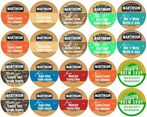 UPC 738759921207, 20-count MARTINSON FLAVORED COFFEE Variety Sampler Pack, Single-Serve Cups for Keurig-Compatible Brewers