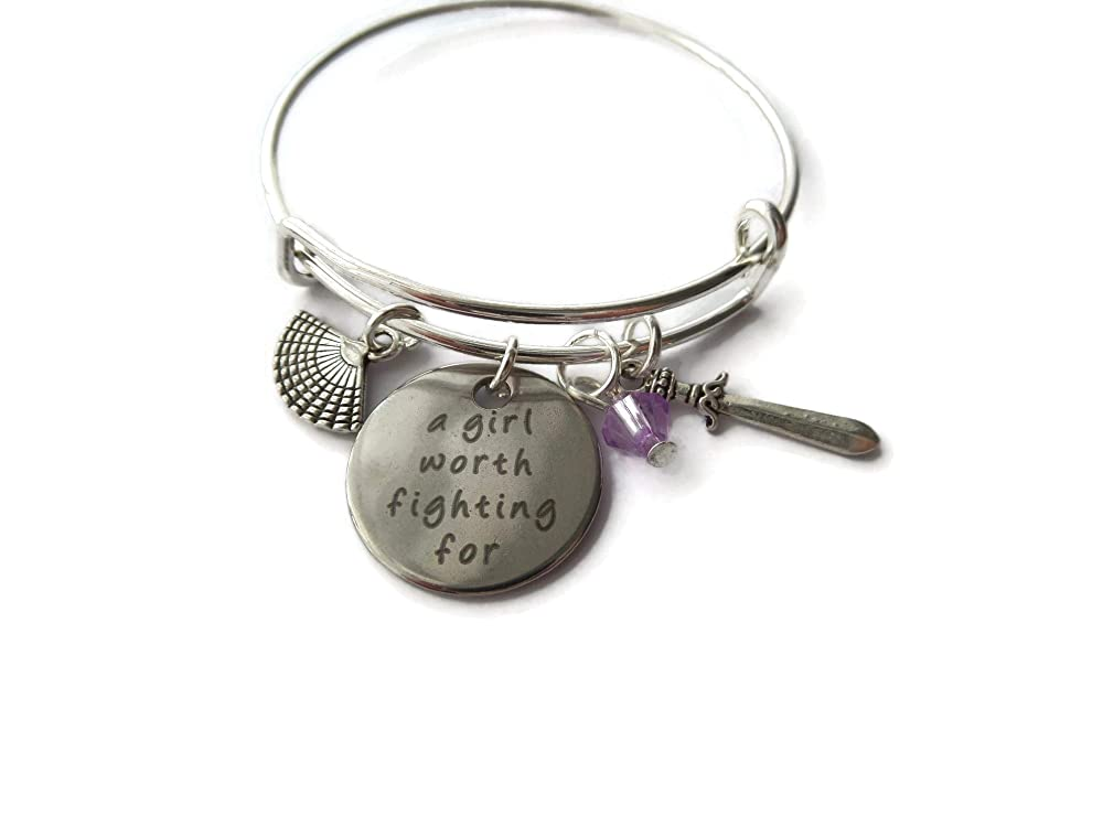 TEEN WOLF inspired silver SARCASM DEFENSE 20mm glass dome 65mm bangle fan gift