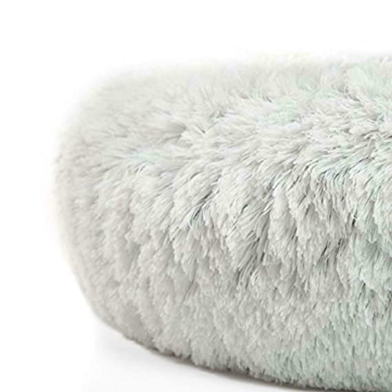 Amazon.com: Emivery Shag - Cojín redondo de piel sintética ...
