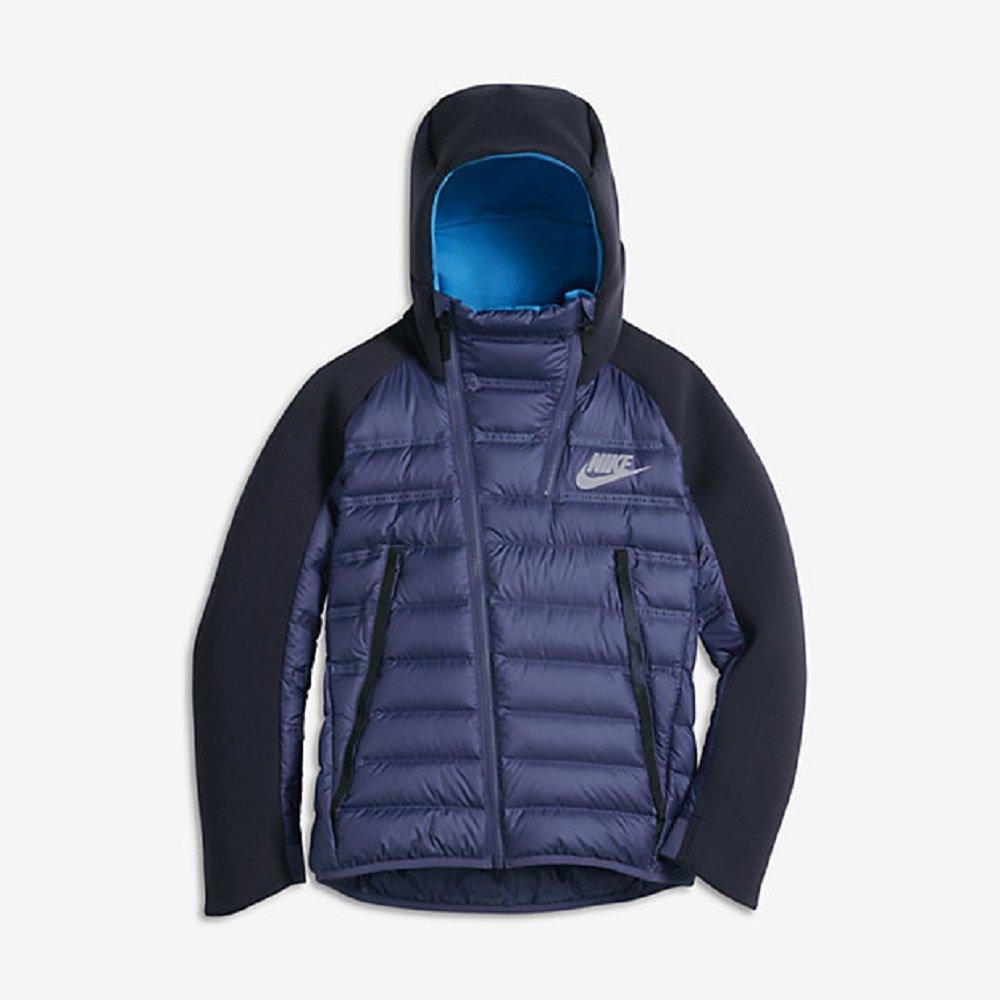 Nike Sportswear Tech Fleece Aeroloft Youth Down Jacket (Boys X-Large) Dark Purple/Obsidian/Photo Blue by NIKE