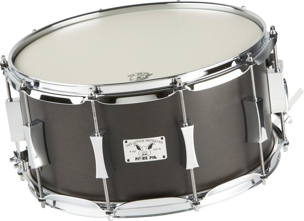Pork Pie poco Squealer abedul/caoba Snare Drum 14 x 7 en. Negro satinado: Amazon.es: Instrumentos musicales