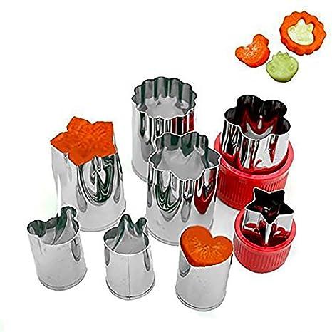 Amazon.com: Conjunto de 8 acero inoxidable vegetales frutas ...