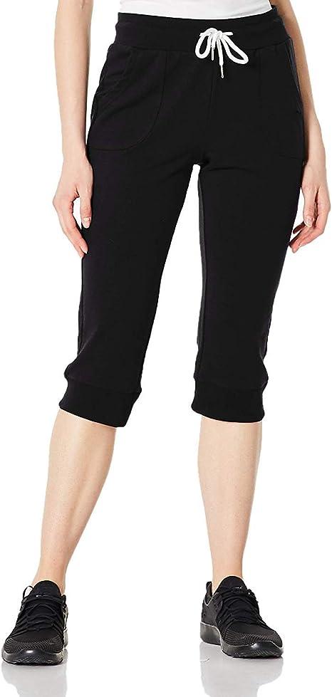 BLUE CHILL Sweatpants Women Joggers Pants for Women Capri Pants Active Wear Yoga Workout Cropped Lounge Sweat Pants