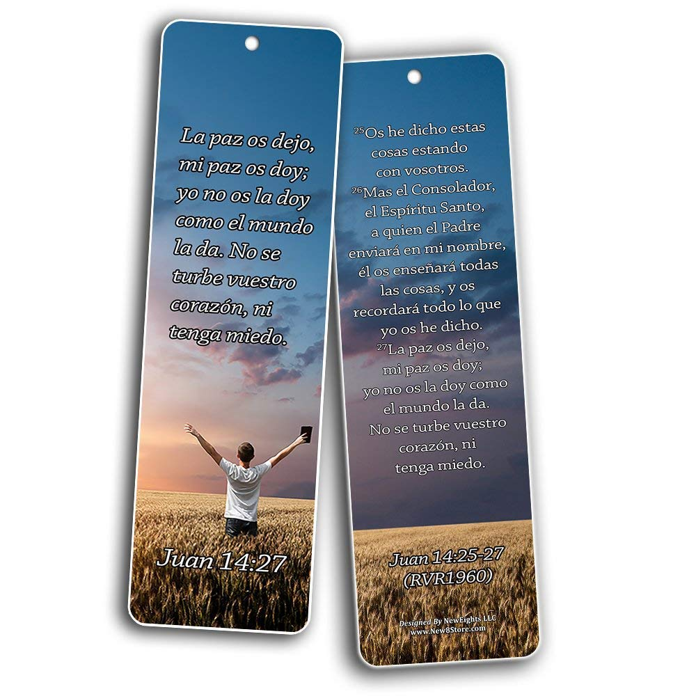 Spanish Bookmarks Cards (60-Pack)- Popular Inspirational Holy Scriptures - War Room Decor by NewEights (Image #6)