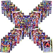 Jialili 100 Poke Cards Style Holo EX Full Art :20 GX+20 Mega+1 Energy+59 EXS Arts Cards, Toy Gifts for Kids an