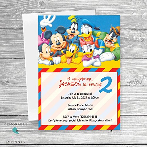 Image Unavailable Not Available For Color Mickey Mouse Clubhouse Birthday Invitation