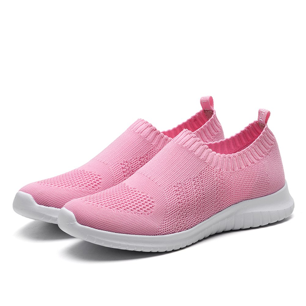 KONHILL Women's Lightweight Casual Walking Athletic Shoes Breathable Mesh Running B(M) Slip-on Sneakers B07CF7RKS8 6 B(M) Running US|2133 Pink ef901c